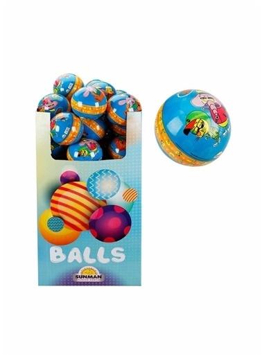 Sunman Sunman 23 cm Balls Kral Şakir PVC Oyuncak Top Renkli
